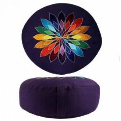 cojin flor multicolor